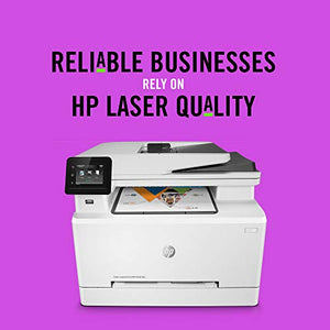 HP LaserJet Pro M281fdw All in One Wireless Color Laser Printer,  Dash Replenishment Ready (T6B82A) One size White