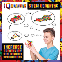 Load image into Gallery viewer, IQ BUILDER | STEM Learning Toys | Creative Construction Engineering | Fun Educational Building Toy Set for Boys and Girls Ages 3 4 5 6 7 8 9 10 Year Old | Best Toy Gift for Kids | Top Blocks Game Kit