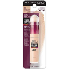 Load image into Gallery viewer, Maybelline Instant Age Rewind Eraser Dark Circles Treatment Concealer, Warm Light, 0.2 Fl Oz (1 Count), (Packaging May Vary)