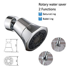 Load image into Gallery viewer, DUDUA 360 Rotatable Water Saver Faucet Water Saving Filter Sprayer for Bathroom Kitchen Tap Nozzle Filter Adapter Silver