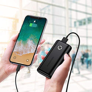 POWERADD EnergyCell 10000, Ultra-Compact Portable Charger, Smallest and Lightest 10000mAh Power Bank Compatible for Iphone, Samsung Galaxy iPad Pro Google LG iPad and More