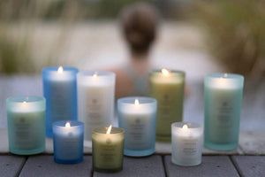 Chesapeake Bay Candle Scented Candles, Peace + Tranquility (Cashmere Jasmine), Medium (2-Pack)