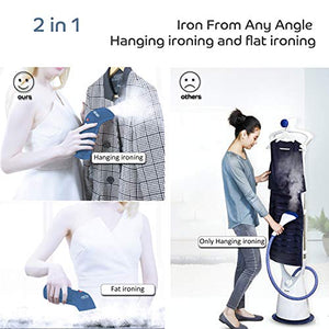Decorus Clothes Steamers, Handheld Steamers for Home, Garment Clothes Steamers, Portable Clothing Ironing, Mini Garment Steamers, Steamers for Clothes, Fabric Wrinkle Remover, Clean, Sterilize,Refresh,Defrost steamer-blue