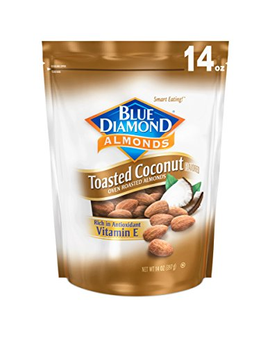 Blue Diamond Almonds Blue Diamond Gluten Free Almonds, Toasted Coconut, 14 Ounce 10041570109424 14 Ounce (Pack of 1)