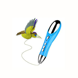 BABY-WZL 3D Printing Pen Creative Puzzle Speed Adjustable New Smart 3D Stereo Pen PLA Supplies High Temperature Graffiti,B