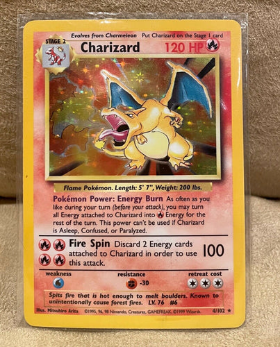 1999 rare charizard holo card mint condition