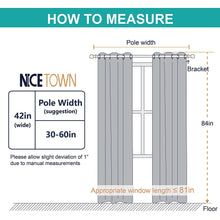 Load image into Gallery viewer, NICETOWN Easy Care Solid Thermal Insulated Grommet Room Darkening Curtains/Drapes for Bedroom (2 Panels, 42 by 84, Light Grey-Greyish White)