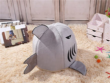 Load image into Gallery viewer, M&G House Cat Bed Cave, Grey Shark Pet House with Removable Bed Cushion Mat for Large Cat Dog Cave Bed,Waterproof Bottom Most Lovely Pet House Gift M FBA_MG10788 Shark-Grey