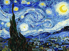 "Load image into Gallery viewer, Paint by Numbers for Adults by BANLANA, DIY Adult Paint by Number Kits for Beginners on Canvas Rolled 16"" by 20"" (Van Gogh The Starry Night) Frameless"