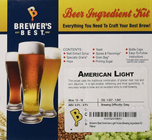 Load image into Gallery viewer, Brewer's Best - Home Brew Beer Ingredient Kit (5 Gallon), (American Light) 8Z-F4VI-1U87 Yellow