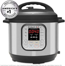 Load image into Gallery viewer, Instant Pot Duo 60 321 Electric Pressure Cooker, 6-QT, Stainless Steel/Black