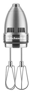 KitchenAid KHM926CU 9-Speed Digital Hand Mixer with Turbo Beater II Accessories and Pro Whisk - Contour Silver 1 Size