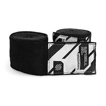 "Load image into Gallery viewer, Sanabul Elastic Professional 180 inch Handwraps for Boxing Kickboxing Muay Thai MMA (Black, 180"") 52001"