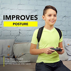 "Leramed [New 2020] Posture Corrector for Men and Women - Adjustable Upper Back Brace for Clavicle Support and Providing Pain Relief from Neck, Back and Shoulder (Chest Size 25"" - 50"") WRQ1402HM Black"