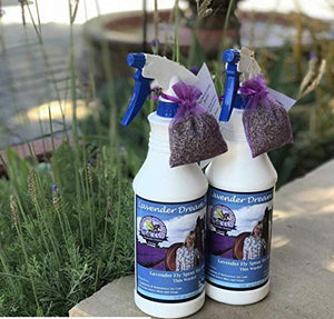 Lavender Dream Farms Natural Lavender Fly repellent Spray for Horses - with pure Lavender Oil