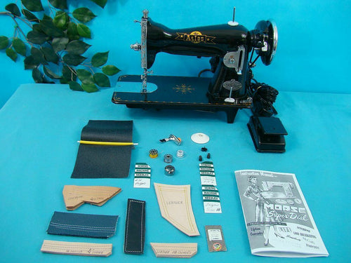 HEAVY DUTY INDUSTRIAL STRENGTH SEWING MACHINE SEWS LEATHER UPHOLSTERY CANVAS ETC