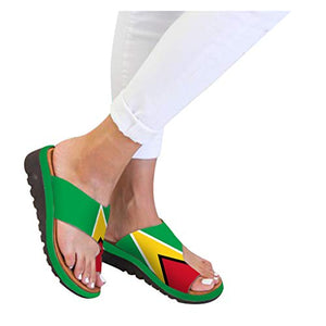 Fudule Women's Sandals Shoes Fudule Sandals Women 2020 New Comfy Wedges Open Toe Platform Sandal Shoes Summer Beach Roman Shoes Flip Flops Slipper 5.5 Y-2 Green