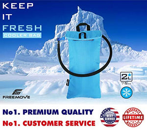 FREEMOVE Cooler Bag Protective Sleeve for 2L or 3L Hydration Water Bladder | Keeps Water Cool & Protects The Bladder | Lightweight & Water Resistant | Bladder is NOT Included 2l Sky Blue