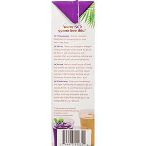 So Delicious Dairy Free So Delicious Dairy-Free Organic Coconutmilk Beverage, Unsweetened Vanilla, 32 Ounce (Pack of 12) Plant-Based Vegan Dairy Alternative, Great in Smoothies Protein Shakes or Cereal 32 Fl Oz (Pack of 12)