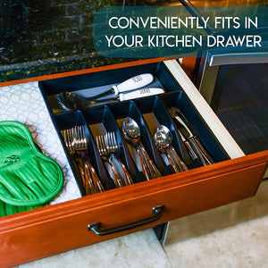 Galashield Silverware Organizer for Kitchen Drawer Flatware Utensils and Cutlery Tray