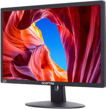 "Load image into Gallery viewer, Sceptre E225W-19203R 22"" Ultra Thin 75Hz 1080p LED Monitor 2X HDMI VGA Build-in Speakers & Logitech MK345 Wireless Combo – Full-Sized Keyboard with Palm Rest and Comfortable Right-Handed Mouse"
