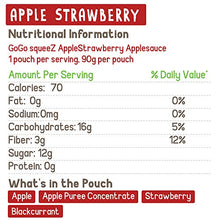 Load image into Gallery viewer, GoGo squeeZ Applesauce on the Go, Variety Pack (Apple/Banana/Strawberry), 3.2 Ounce (12 Pouches), Gluten Free, Vegan Friendly, Unsweetened, Recloseable, BPA Free Pouches (Packaging May Vary) 120464 3.2 Ounce (Pack of 12)