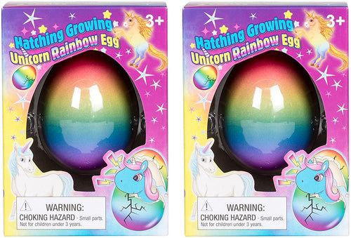 Set of 2 Surprise Growing Unicorn Hatching Rainbow Egg Kids Toys, Assorted...
