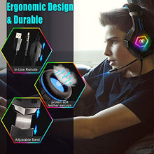 Load image into Gallery viewer, Beexcellent Gaming Headset PS4 Headset Pro 7.1 Surround Sound Noise Canceling...