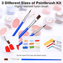 "Load image into Gallery viewer, COLORWORK DIY Paint by Numbers, Canvas Oil Painting Kit for Kids & Adults, 12"" W x 16"" L Drawing Paintwork with Paintbrushes, Full Moon 4 PCS Set Frameless12*16"