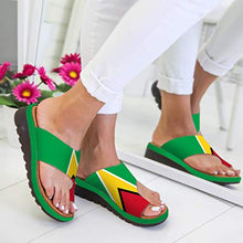 Load image into Gallery viewer, Fudule Women's Sandals Shoes Fudule Sandals Women 2020 New Comfy Wedges Open Toe Platform Sandal Shoes Summer Beach Roman Shoes Flip Flops Slipper 5.5 Y-2 Green