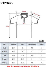 Load image into Gallery viewer, KUYIGO Mens Fashion Polo Shirt Short Sleeve Polo Tee Casual Slim Fit Basic Golf Tee Sport Polo T-shirtsSmall Black KU601-S-Black-FBA