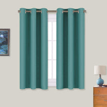 Load image into Gallery viewer, NICETOWN Window Curtain Panels, Thermal Insulated Solid Grommet Blackout Draperies/Drapes (Sea Teal, One Pair, 34 by 54-inch)
