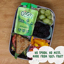 Load image into Gallery viewer, GoGo squeeZ Applesauce on the Go, Variety Pack (Apple/Banana/Strawberry), 3.2 Ounce (12 Pouches), Gluten Free, Vegan Friendly, Unsweetened, Recloseable, BPA Free Pouches (Packaging May Vary) 120464