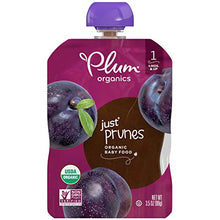Load image into Gallery viewer, Plum Organics Stage 1 Organic Baby Food, Prune Puree, 3.5 Ounce Pouch (Pack of 12) 200460000859 3.5 Ounce (Pack of 12) Multi