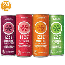 Load image into Gallery viewer, IZZE Sparkling Juice, 4 Flavor Variety Pack, 8.4 Fl Oz (Pack of 24) SPAUSD24120 Izze Beverages