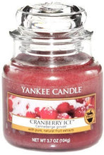 Load image into Gallery viewer, Yankee Candle Cranberry Ice Small Jar Candle, Red