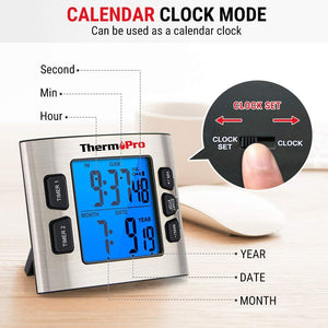 ThermoPro TM02 Digital Kitchen Timer with Dual Countdown Stop Watches...