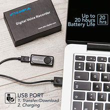 Load image into Gallery viewer, attodigit@l Small Voice Recorder with 20 Hours Battery Life | Ideal for Lectures, Meetings or Interviews | 141 Hours Capacity on 8GB | nanoREC by aTTo Digital nanoREC voice recorder 8GB 8GB Mini Voice Recorder nanoREC