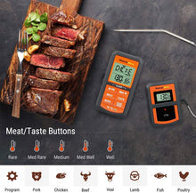 Load image into Gallery viewer, ThermoPro TP-07 Wireless Remote Digital Cooking Turkey Food Meat Thermometer for Grilling Oven Kitchen Smoker BBQ Grill Thermometer with Probe, 300 Feet Range