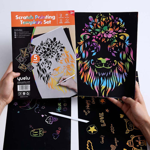 Kids scratch cards template set DIY Scratch Paintings Magic Art Drawings Baby Educational Toys Child Birthday Gifts For Boy Girl