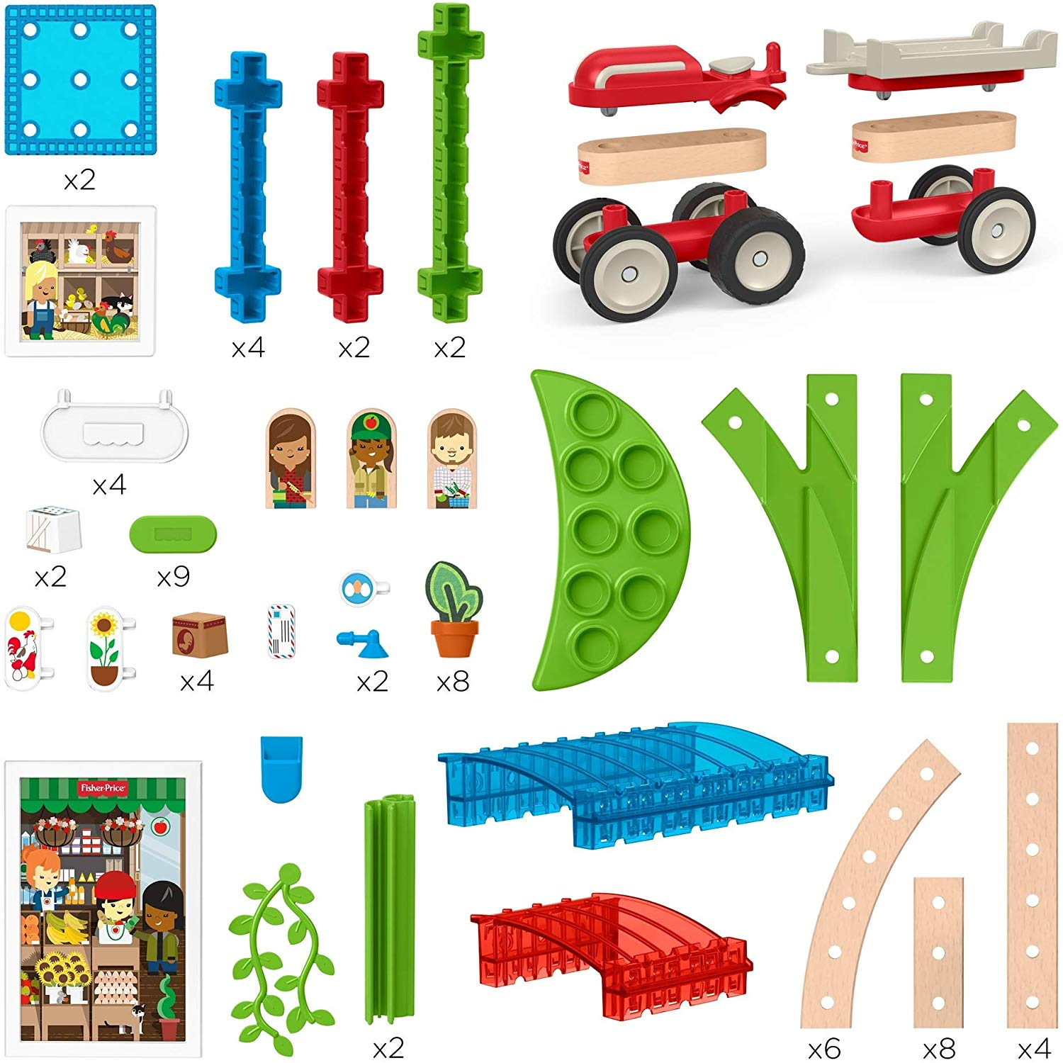 Fisher Price Wonder Makers Design System Build Around Town Starter Kit Seasons Gala