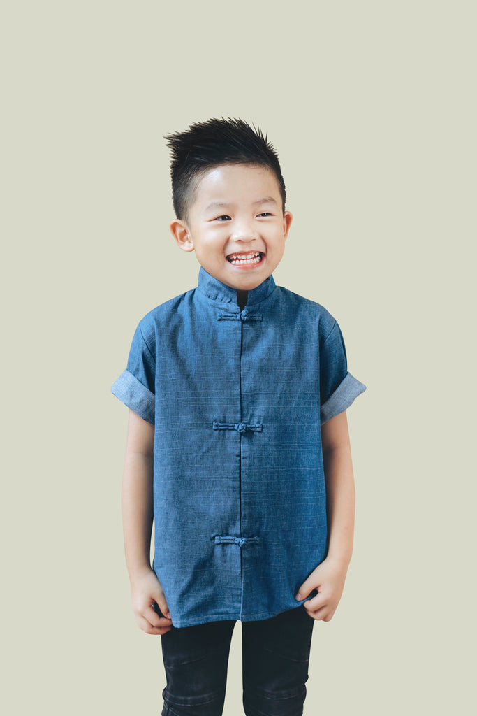 Oriental Denim Short Sleeve Shirt