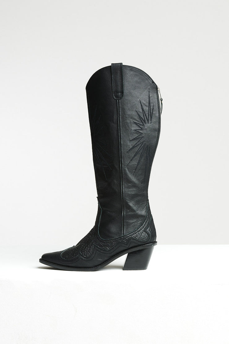 KNEE HIGH WESTERN BOOT