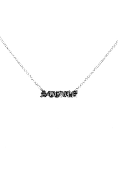 BLACK LETTER NECKLACE