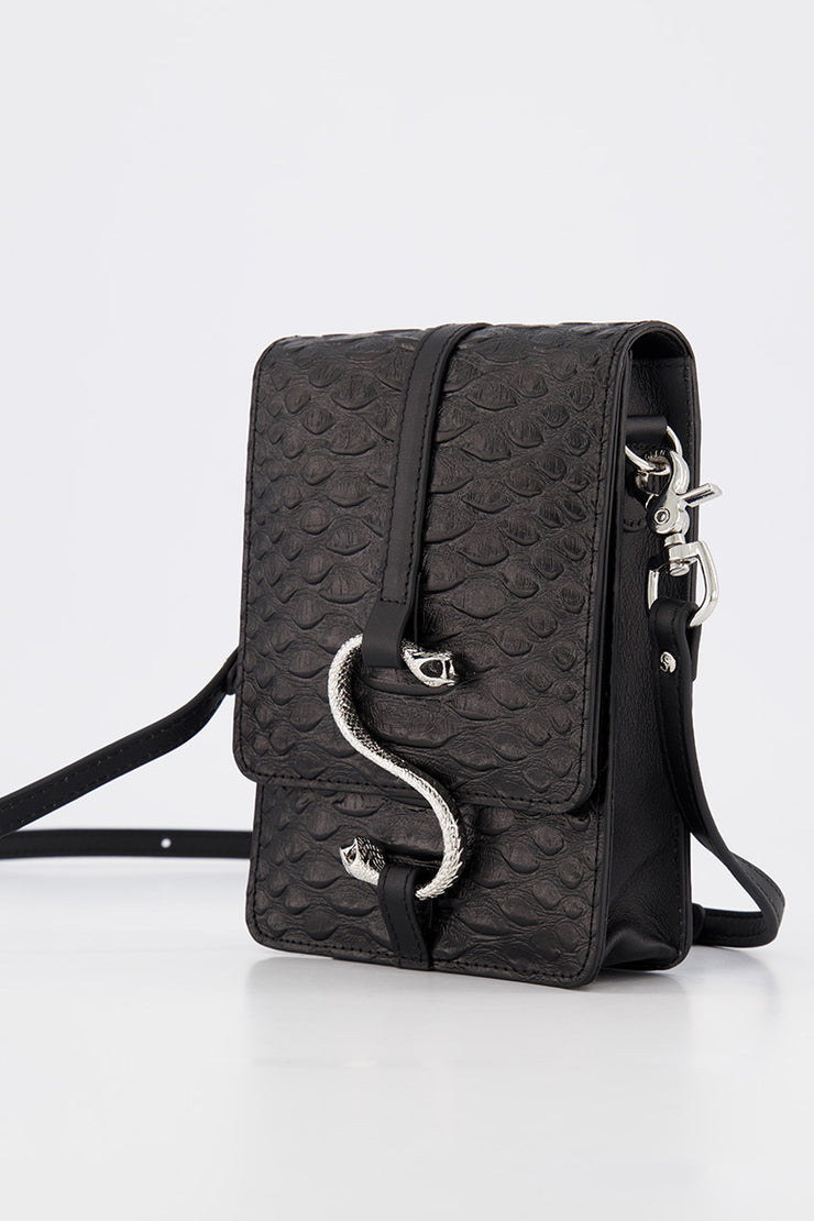 HISS SATCHEL BLACK SNAKE