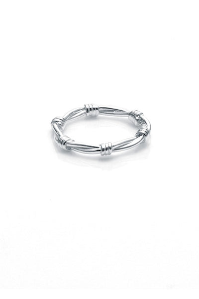BARBED WIRE SKINNY RING