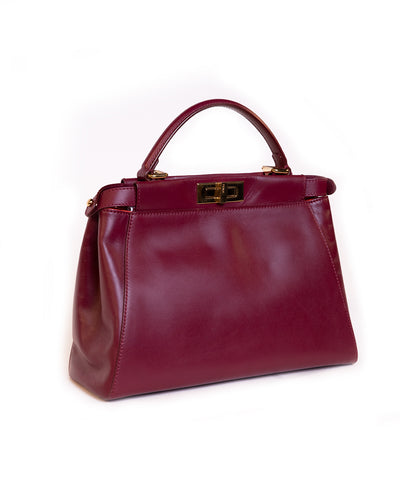 Peakaboo leather handbag