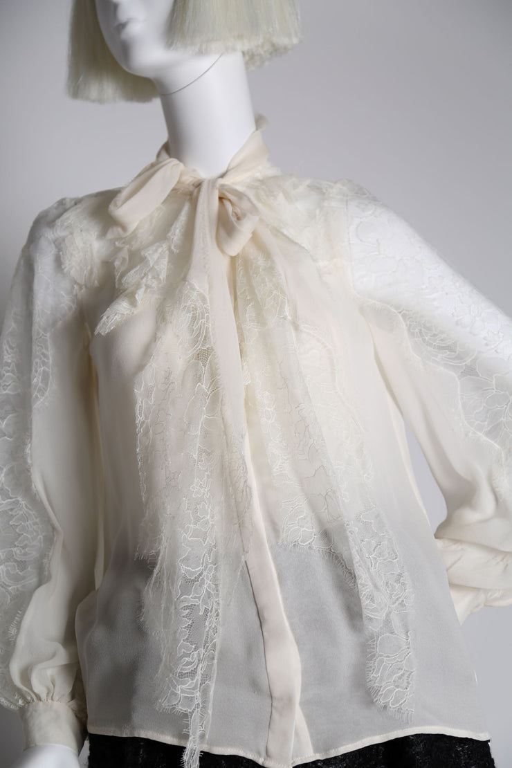 Lace and Chiffon blouse