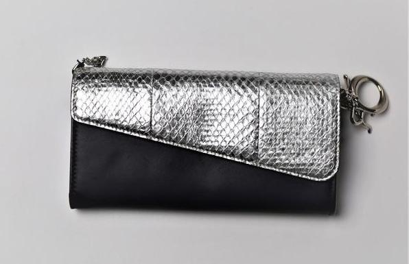 Snake leather wallet on chain