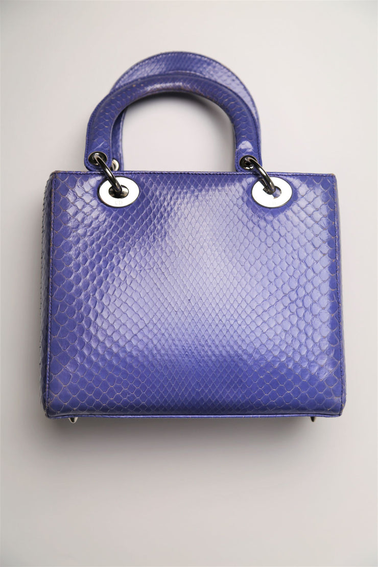 Python leather handbag